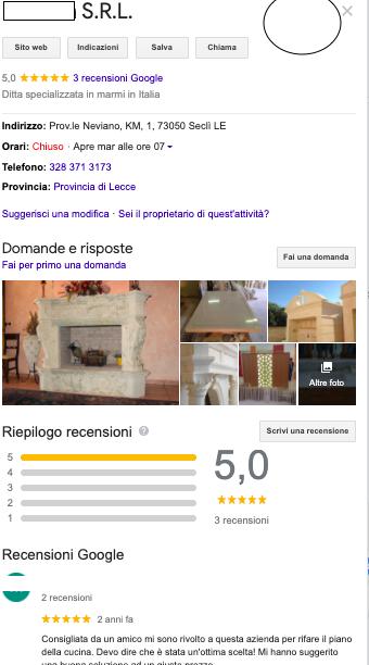 esempio pagina google my business